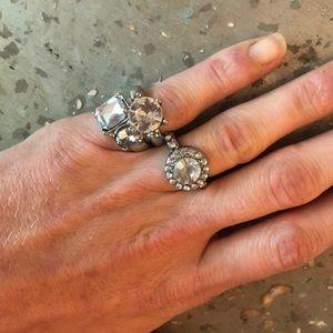 Costume Jewelry Faux Diamond Ring Set